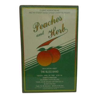 Vintage Peaches & Herb Concert Poster For Sale