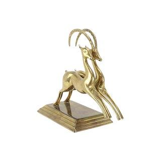 Solid Brass Jumping Gazelles