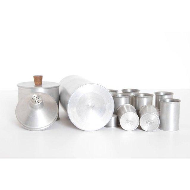Aluminum Machine Age Art Deco Kenilworth Studios Cocktail Set For Sale - Image 7 of 11