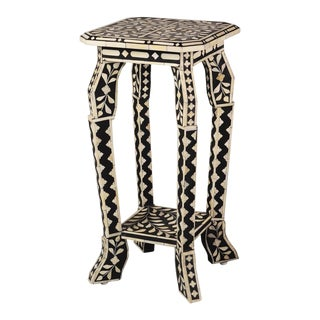Imperial Beauty Telephone Table in Black/White For Sale