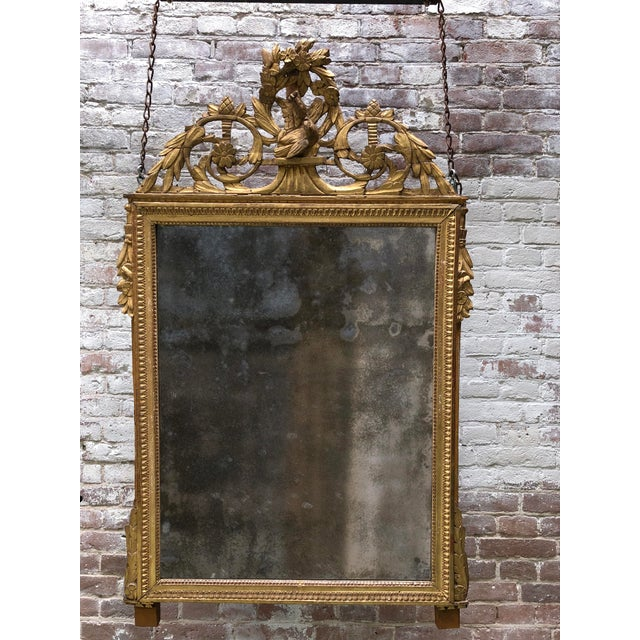 Wood Louis XVI 18th Century Mirror For Sale - Image 7 of 9