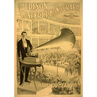 Early 1900s Print of Concert Phonograph Advertisement For Sale