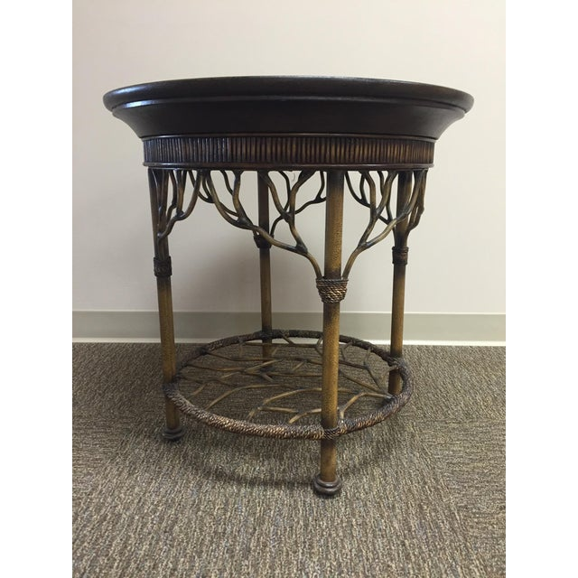 Wooden Round End Table - Image 3 of 8