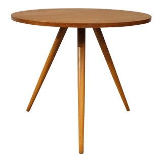 "Original Danish Mid Century Round Teak Side Table - ""Asnæs"""