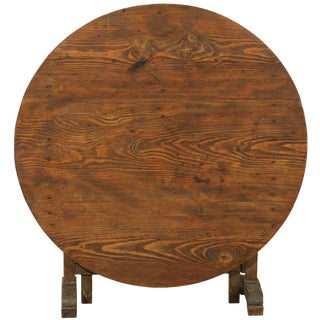 20th Century French Vintage Wine Tasting Table For Sale
