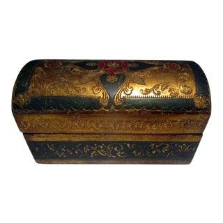 1970s Italian Florentine Barrel-Shaped Box For Sale