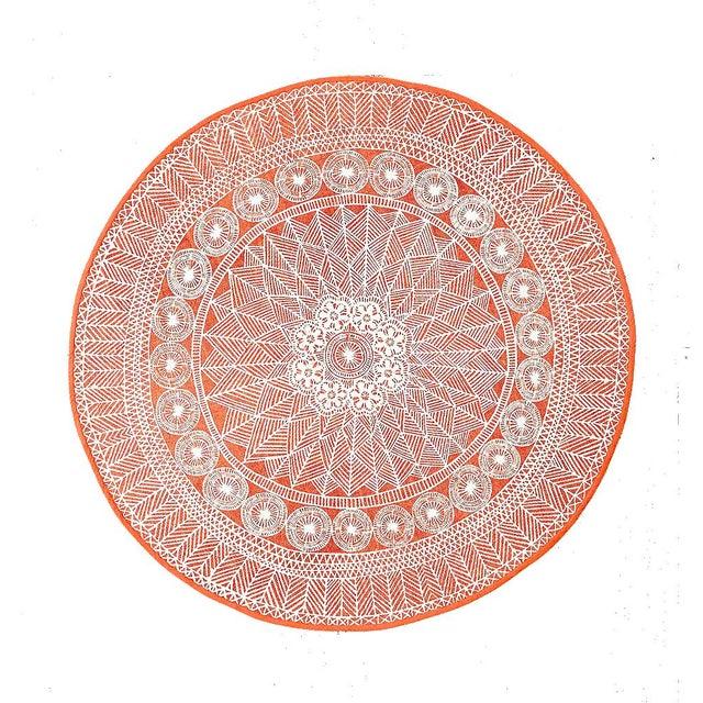 Bohemian Floral Medallion Rug- 5' - Image 7 of 7