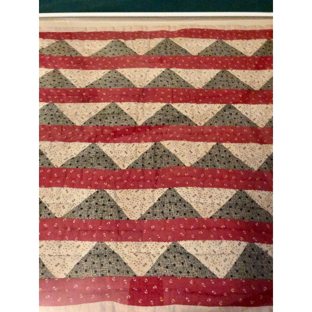 Folk Art Early 20th Century Framed Doll Quilt For Sale - Image 3 of 13