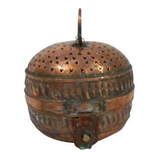 Round, Copper Storage Box For Sale