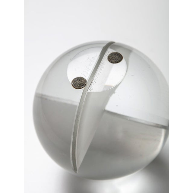 Glass Spherical Sculpture by Floris Meydam for Leerdam For Sale - Image 6 of 8
