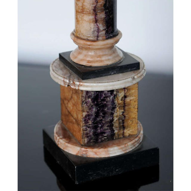 Very Fine Pair of Bluejohn and Marmo Negro Columns, England For Sale In Miami - Image 6 of 8
