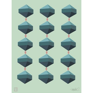 "Geo Tops, Giclee Print 11x15"" For Sale"