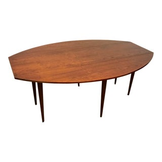 Glenn of California Walnut Drop Leaf Dining Table For Sale