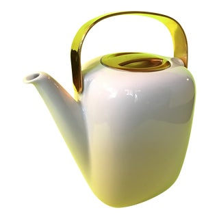 Timo Sarpaneva Suomi Coffee Pot for Rosenthal Studio-Line W/ Gold Brass For Sale