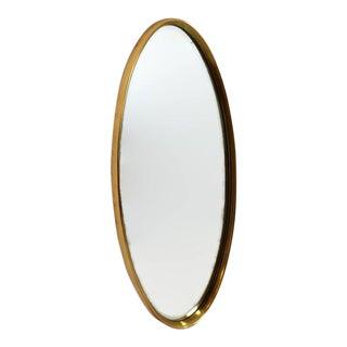 "Mid Century Modern Oval Mirror 49"" Gold Gilt Console Mirror"