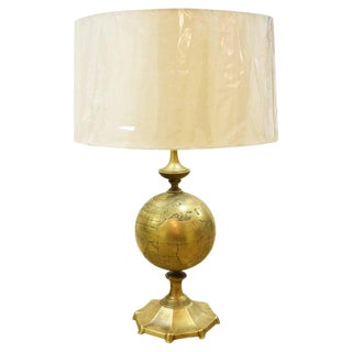 Vintage Italian Bronze or Brass Globe Lamp For Sale