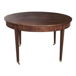 19th Century French Directoire Inlaid Mahogany Table For Sale