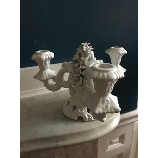 Glazed White Ceramic Candleabra Preview