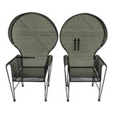 Image of Russell Woodard Designs, Porters Chairs - a Pair For Sale