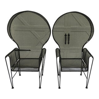 Russell Woodard Designs, Porters Chairs - a Pair For Sale