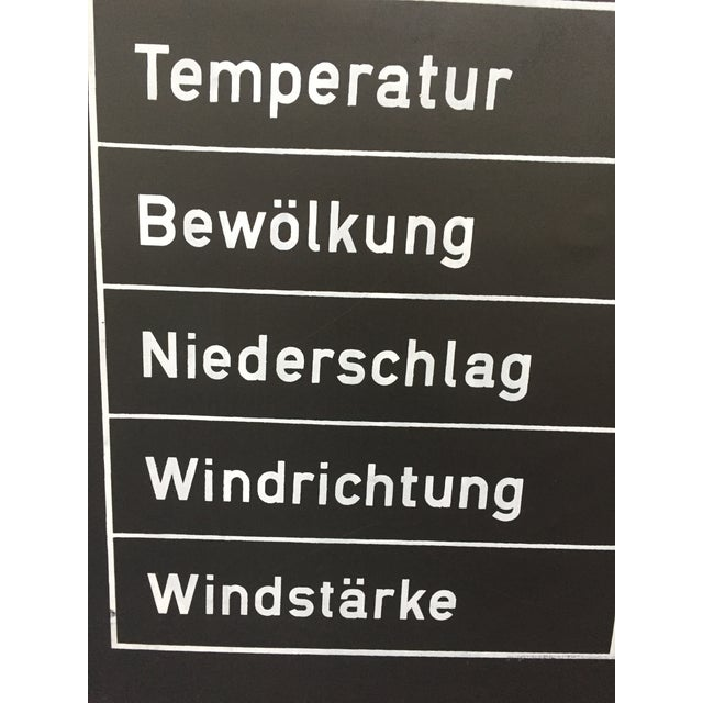 Cool vintage German classroom weather chart. Thick vinyl on backing with wood rods.