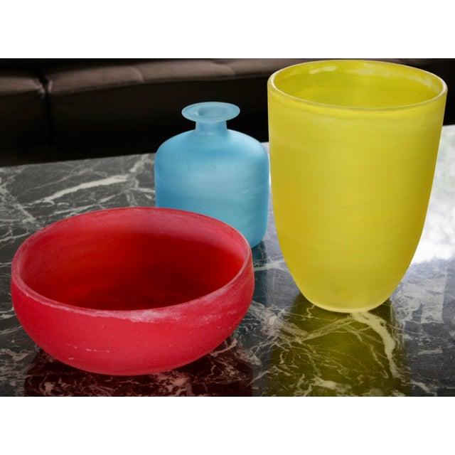 Mid-Century Modern Murano Glass Vessels by Gino Cenedese - Set of 3 For Sale - Image 3 of 11