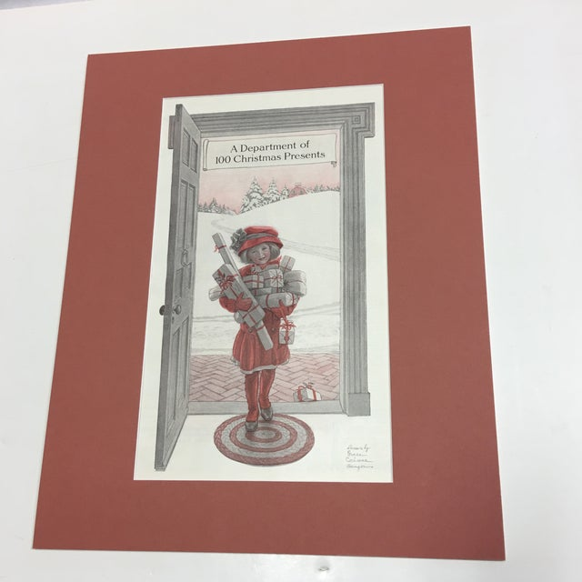 A beautiful old circa 1900 original ad from a magazine. A very sweet Christmas theme. Beautifully matted and ready to be...