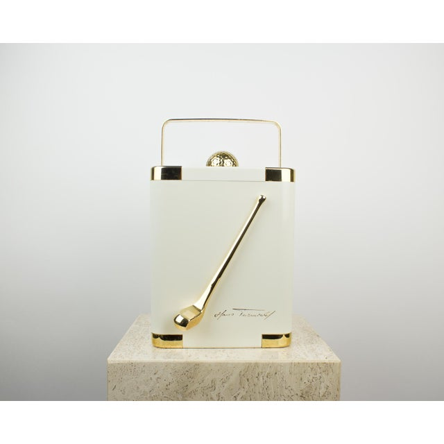 Vintage White and 24k Gold Turnwald Collection Golf Ice Bucket For Sale - Image 11 of 11