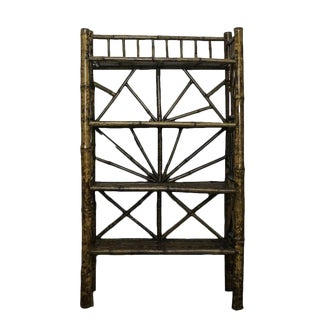 Vintage Bamboo Shelve Bookcase For Sale