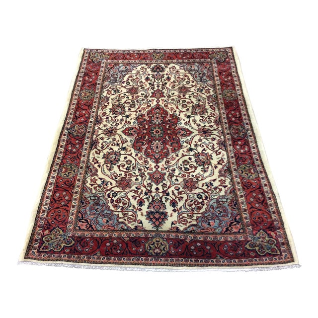 1980s Vintage Saroukh Persian Rug - 4′3″ × 6′4″ For Sale