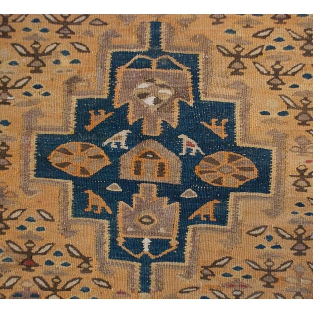 """1930s Early 20th Century Senneh Kilim Runner - 55"""" x 144"""" For Sale - Image 5 of 5"""