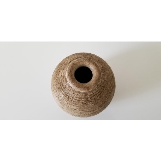 Mid-Century Studio Pottery Bud Vase , Signed . For Sale - Image 4 of 8