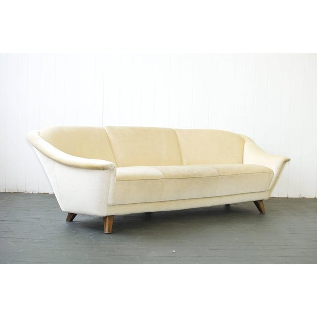 1950s Curved German Sofa For Sale - Image 4 of 6