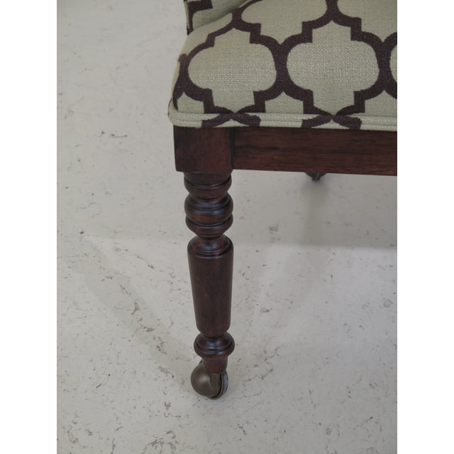 2000 - 2009 Modern Century Geometric Print Upholstered Club Chairs- A Pair For Sale - Image 5 of 12