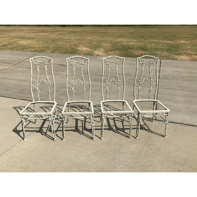 1960s 1960s Mid-Century Modern Kessler Industries Cast Aluminum Faux Bamboo Dining Set - 5 Piece Set For Sale - Image 5 of 12