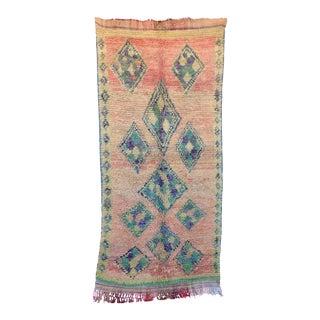"Boujad Vintage Moroccan Rug, 4'7"" X 9'11"" For Sale"