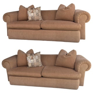 Pair of Matching Custom Made Steve Chase Sofas For Sale