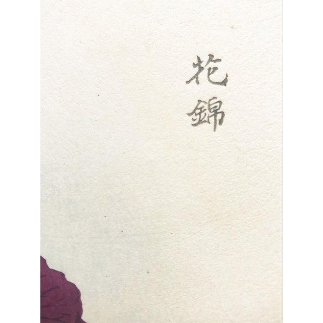 Green Japanese Iris Woodblock Botanical Print C.1900 For Sale - Image 8 of 9