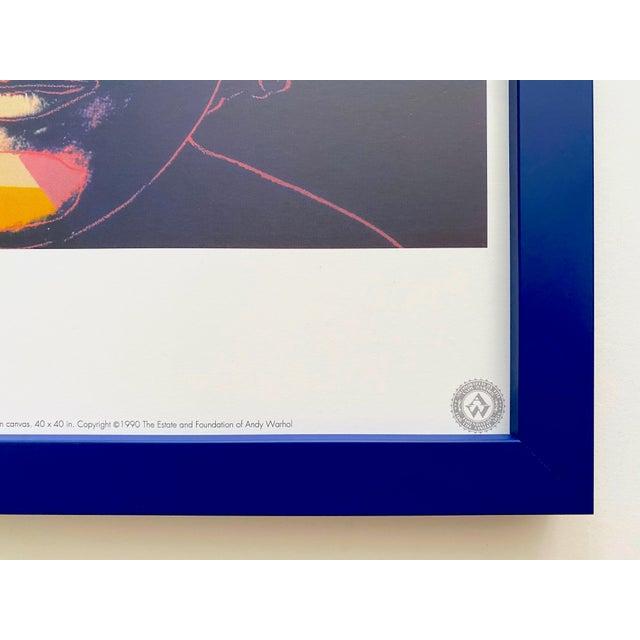 """Andy Warhol Estate Vintage 1990 Framed Pop Art Lithograph Print """" John Lennon """" 1986 For Sale - Image 12 of 13"""