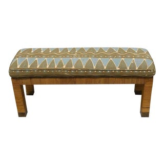 Midcentury Rattan and Reed Long Bench For Sale