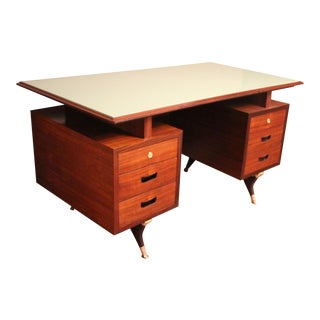 Midcentury Italian Executive Desk For Sale