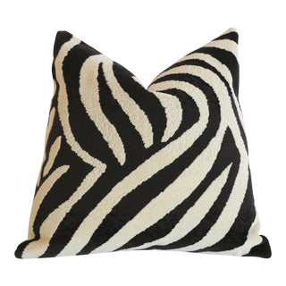 Schumacher Zebra Epingle Pillow Cover 16x16 For Sale