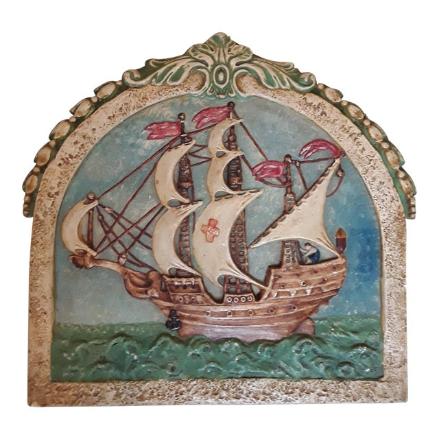 Antique Nautical Wall Plaque For Sale