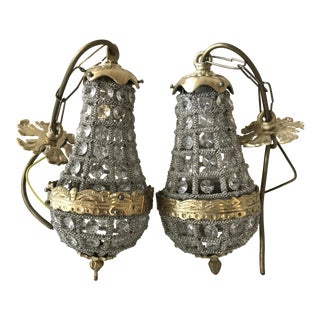French Crystal Chandeliers - A Pair