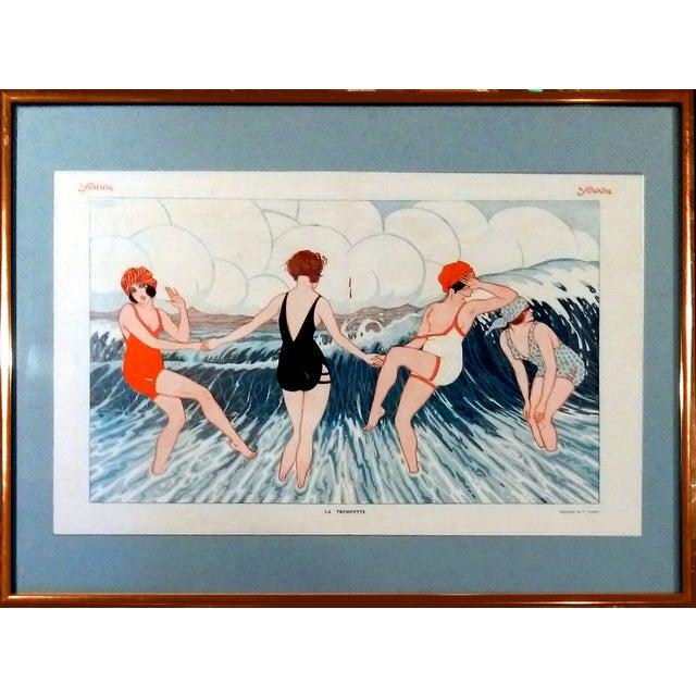 "1924 Le Sourire ""La Trempette"" Framed Print - Image 1 of 9"