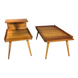 1950s Baumritter Coffee & Side Table - A Pair