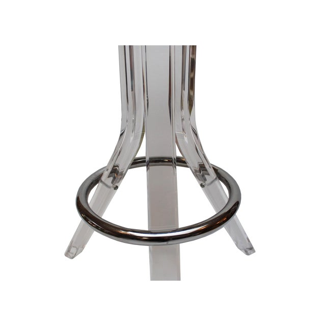 Charles Hollis Jones Lucite Barstools - A Pair - Image 3 of 4