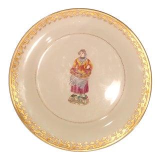 """Decorative Plate Chelsea House """"Cries of Paris"""" European Woman For Sale"""