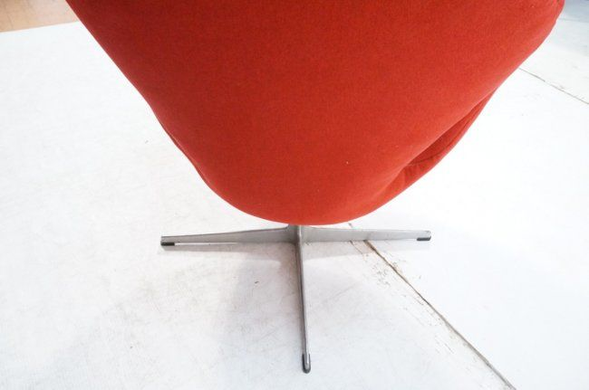 Arne Jacobsen Swan Chair Fritz Hansen Mid Century   Image 5 Of 7