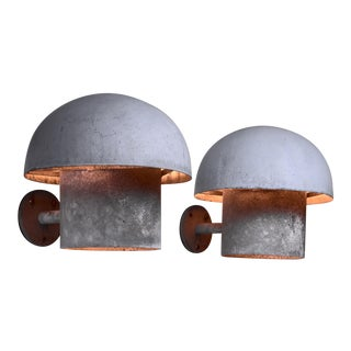 Bjarne Bech Pair of Metal Outdoor Wall Lamps for Louis Poulsen, Denmark For Sale
